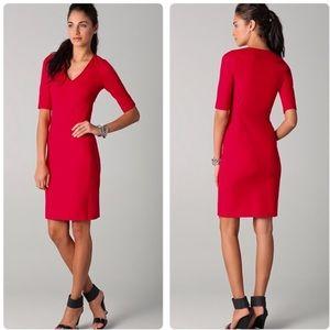 Diane Von furstenberg holiday red heath dress Sz 8